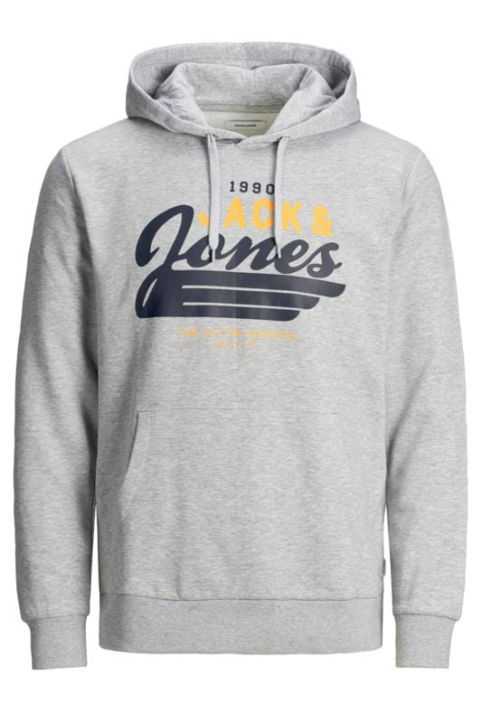 Plus-Größen Hoodies JACK & JONES Grey Logo Hoodie