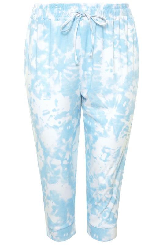 Blue Tie Dye Cropped Joggers