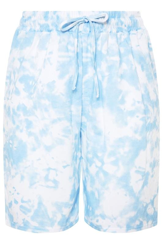 Blue Tie Dye Jogger Shorts