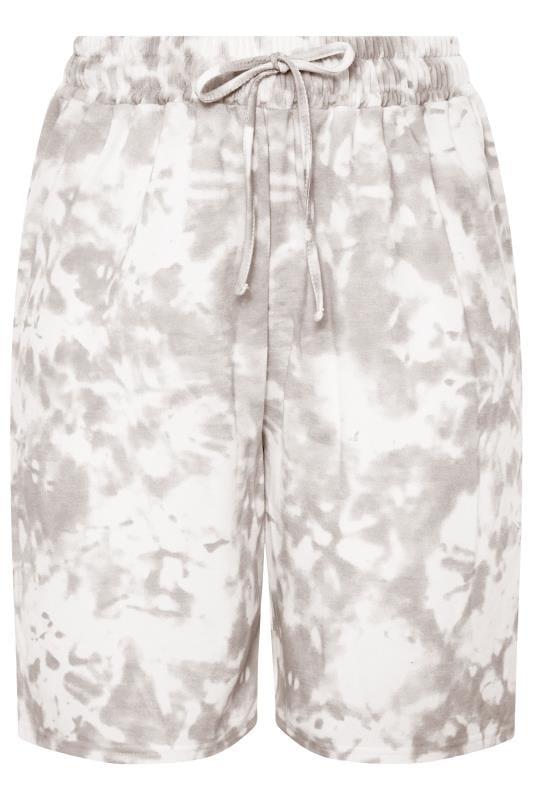 Grey Tie Dye Jogger Shorts