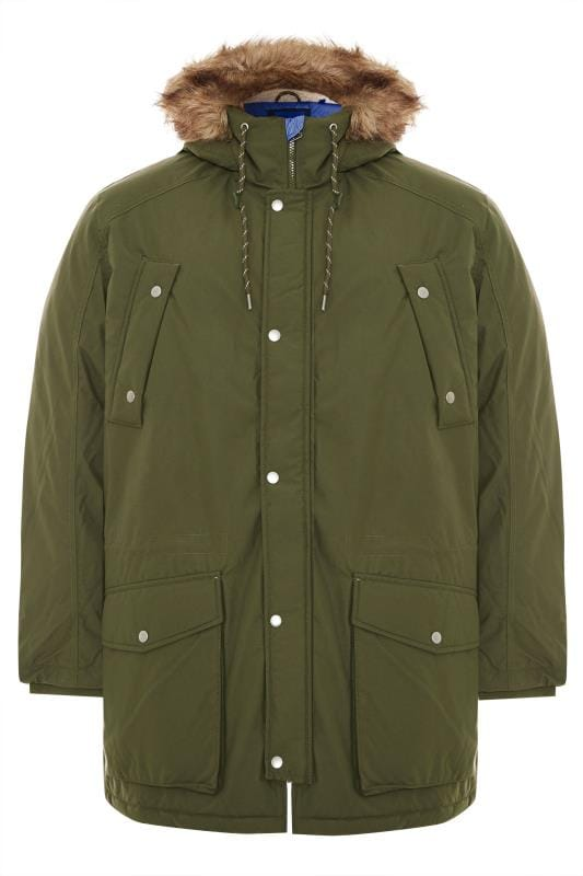 Plus-Größen Coats JACK & JONES Forest Green Parka Coat