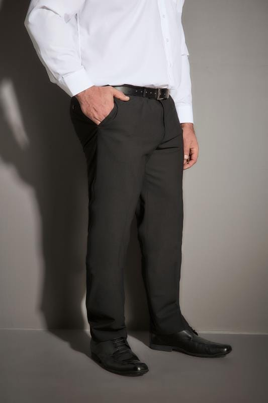 JP 1880 Black Comfort Fit Suit Trousers