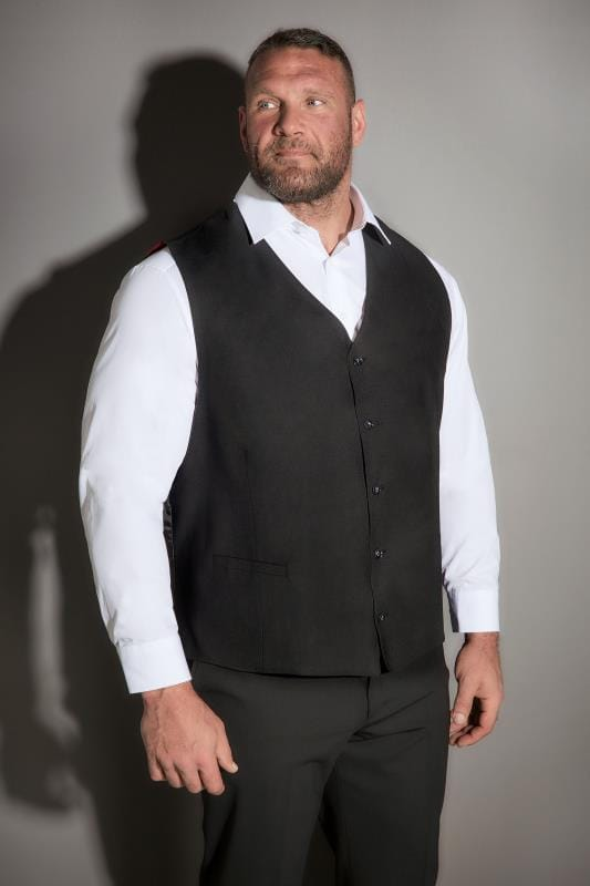 JP 1880 Black Suit Waistcoat