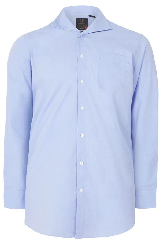 JP 1880 Blue Comfort Fit Shirt With Cutaway Collar