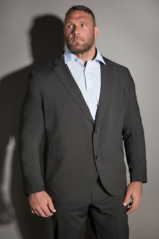 Большие размеры | Suit Jackets JP 1880 Dark Grey Comfort Fit Suit Jacket