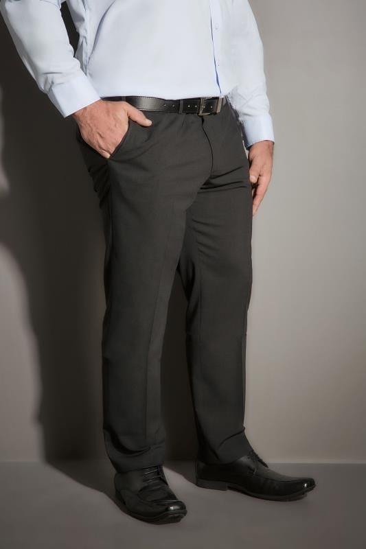 JP 1880 Dark Grey Comfort Fit Suit Trousers