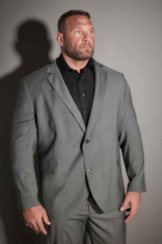 JP 1880 Grey Comfort Fit Suit Jacket