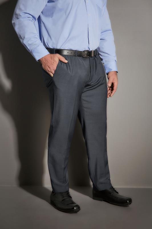 Suit Trousers JP 1880 Navy Comfort Fit Textured Suit Trousers 200885