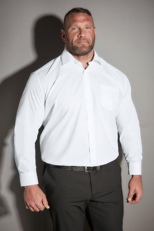 JP 1880 White Comfort Fit Shirt