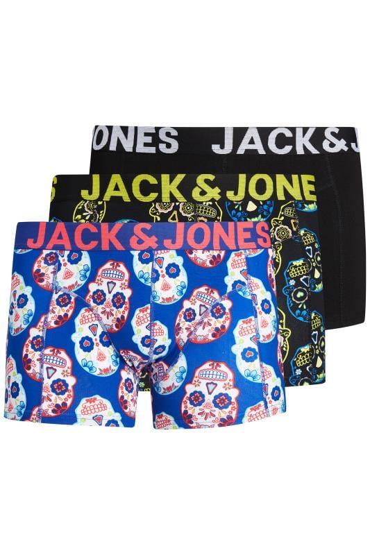 Boxers & Briefs JACK & JONES 3 PACK Multi Skull Trunks 201496