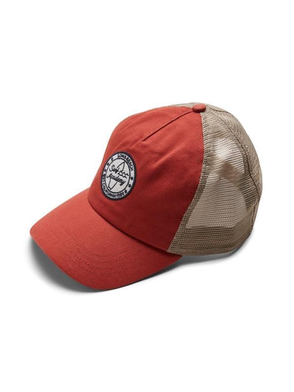 JACK & JONES Red Embroidered Trucker Cap