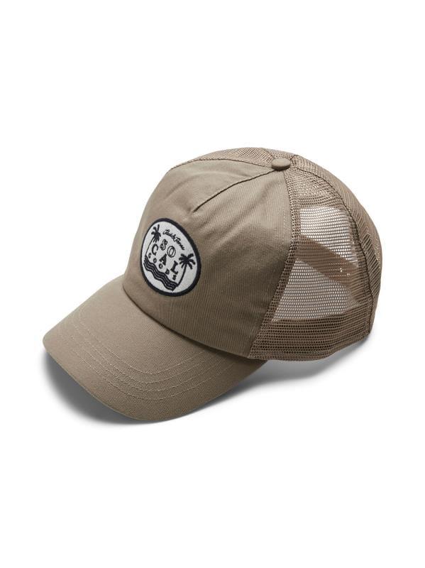 Plus Size Hats JACK & JONES Beige Embroidered Trucker Cap