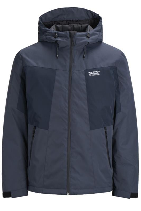 Jackets JACK & JONES Navy Zip Through Hooded Jacket 202042