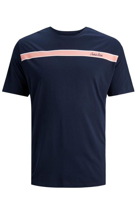 JACK & JONES Navy Logo Crew Neck T-Shirt