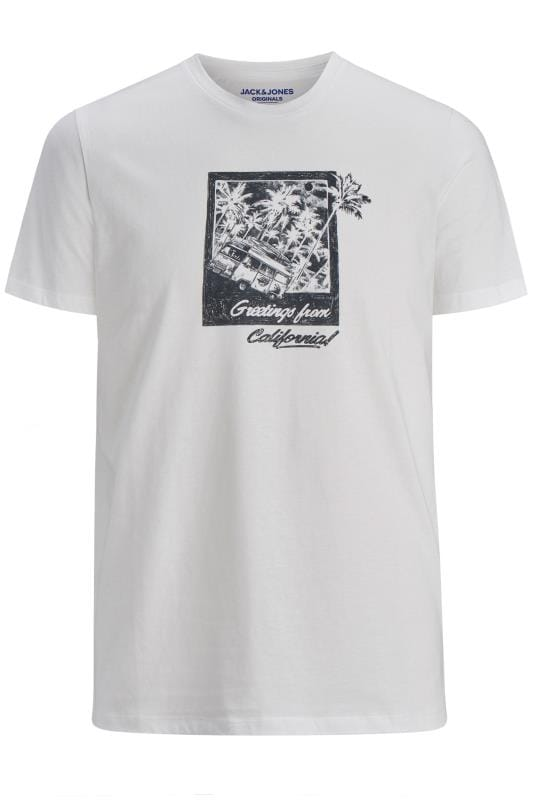 T-Shirts JACK & JONES White Postcard Graphic T-Shirt 201455