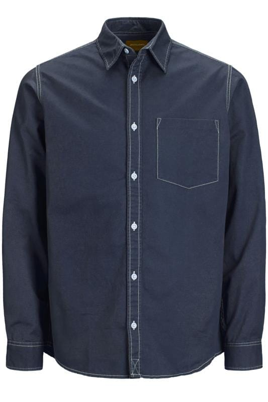 Plus-Größen Casual Shirts JACK & JONES Navy Shirt