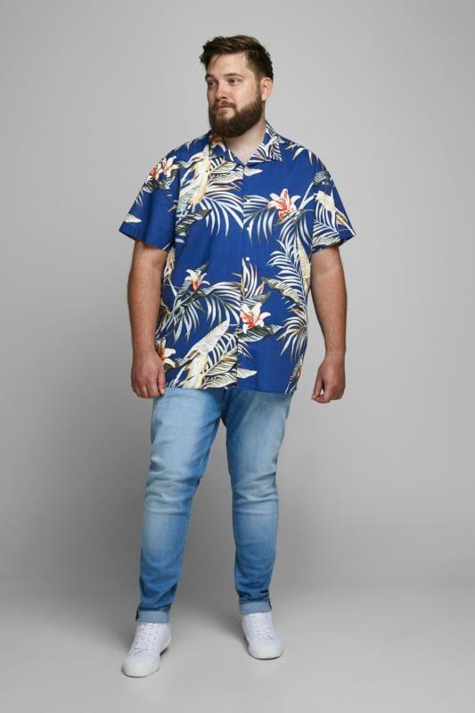 JACK & JONES Blue Hawaiian Shirt