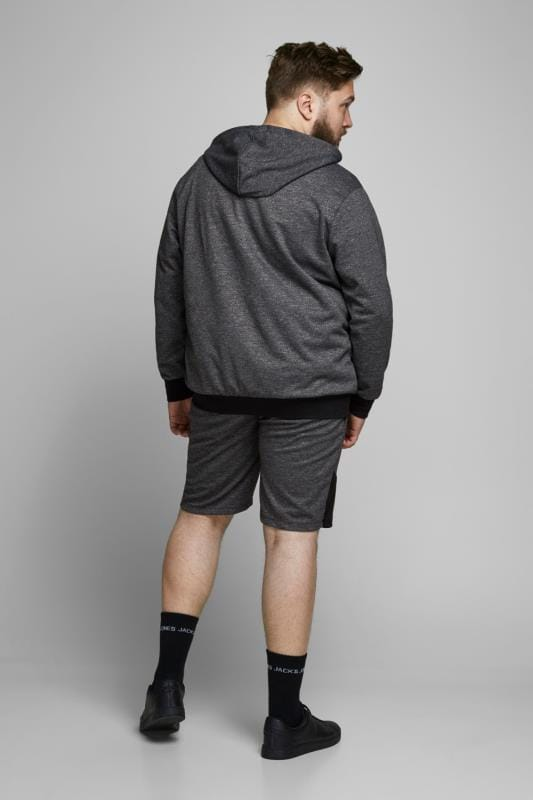 JACK & JONES Grey & Black Jogger Shorts