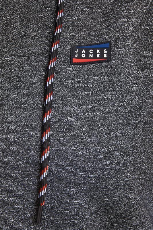 JACK & JONES Grey & Red Zip Through Hoodie