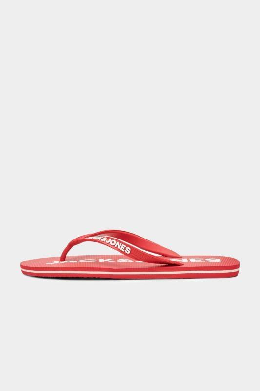 JACK & JONES Red Flip Flops