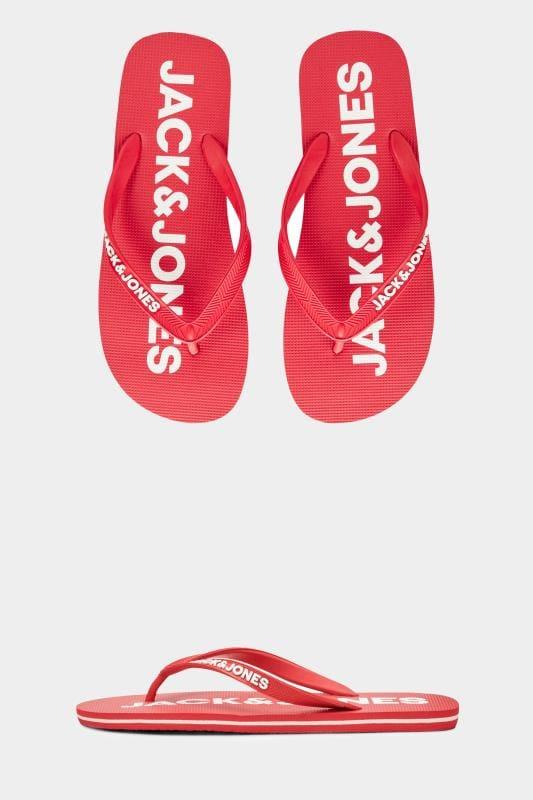 Shoes JACK & JONES Red Flip Flops 201510