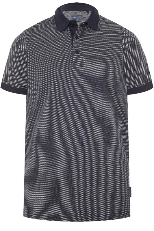 BadRhino Navy Jacquard Polo Shirt