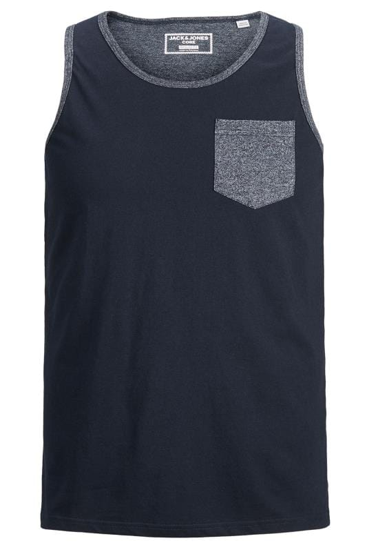 Plus Size Vests JACK & JONES Navy Pocket Vest