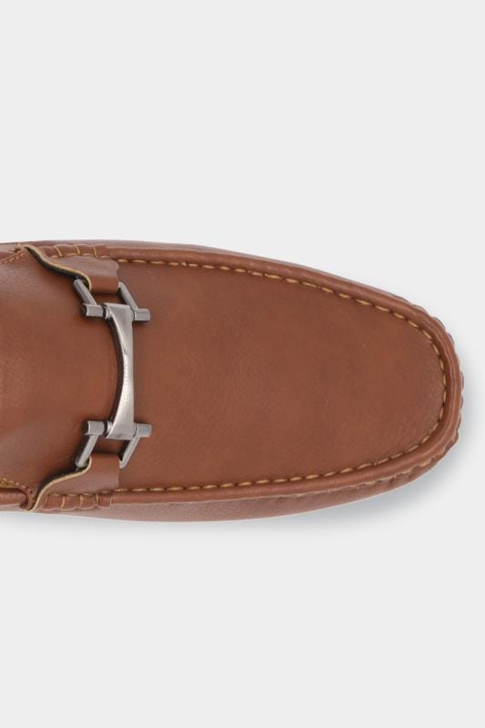 D555 Brown Faux Leather Loafers
