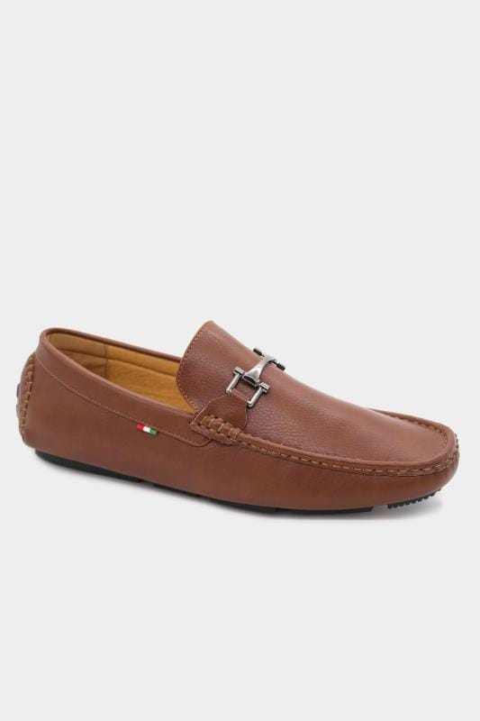 Men's Footwear D555 Brown Faux Leather Loafers