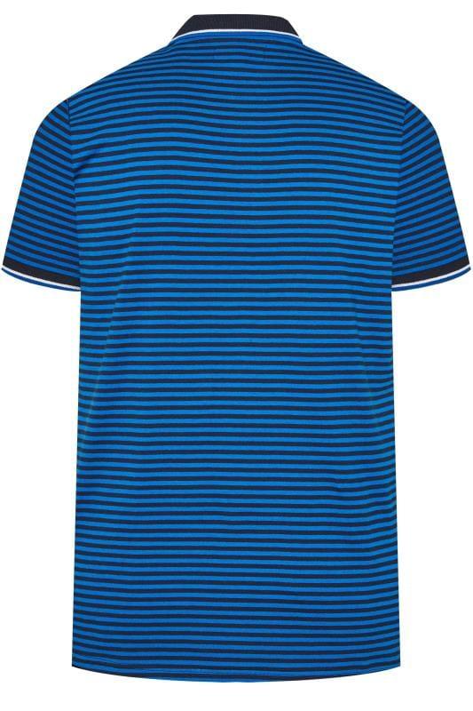 BadRhino Blue Stripe Polo