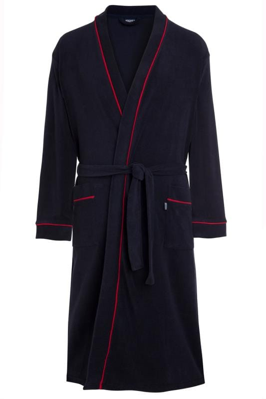 Plus Size Corsage JOCKEY Navy Bathrobe