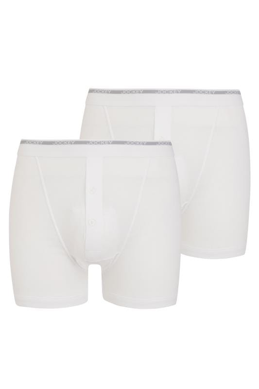 Plus Size Beauty JOCKEY 2 PACK White Classic Boxers