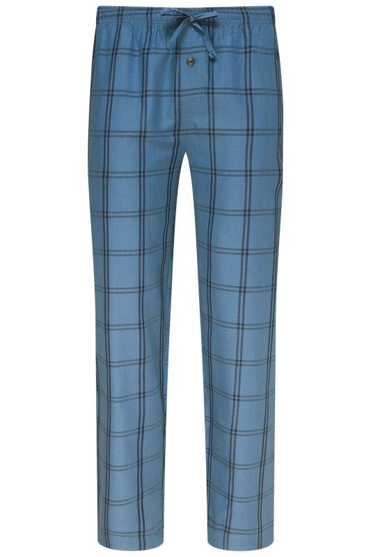 Plus-Größen Bracelets JOCKEY Blue Check Lounge Pyjama Bottoms