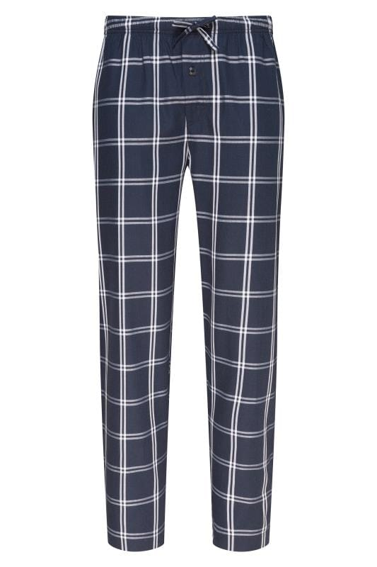Plus-Größen Bracelets JOCKEY Navy Check Lounge Pyjama Bottoms