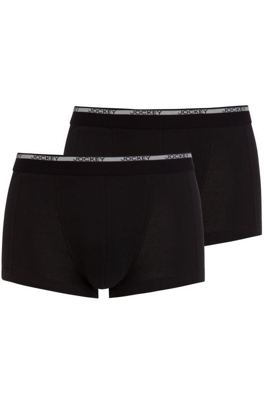 JOCKEY 2 PACK Black Classic Trunks