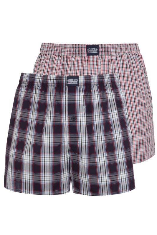 Boxers & Briefs JOCKEY 2 PACK Red Woven Checked Boxers 202998