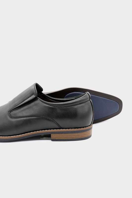 D555 Black Formal Slip On Shoes