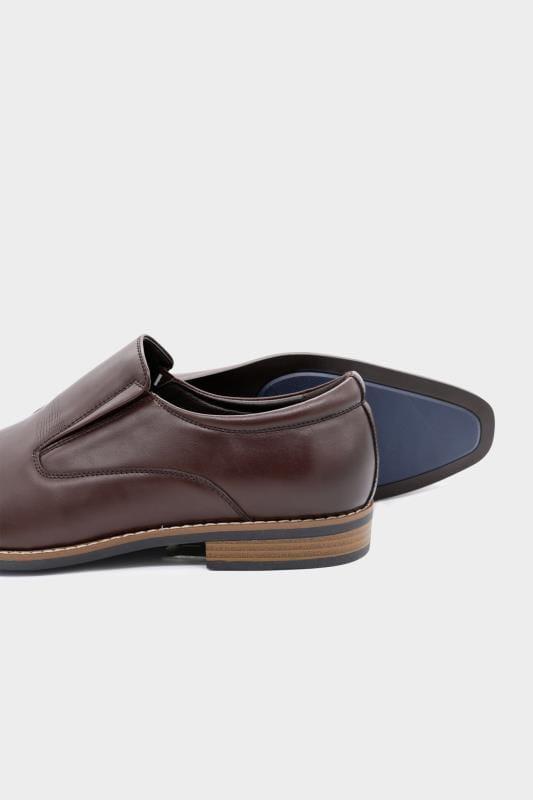 D555 Brown Formal Slip On Shoes