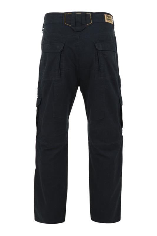 KAM Black Cargo Trousers
