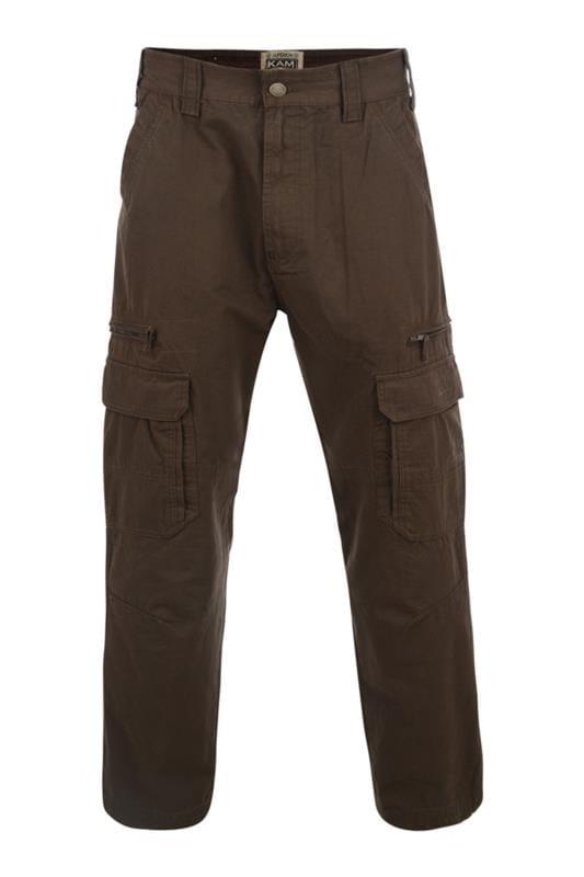 Großen Größen Bracelets KAM Khaki Cargo Trousers