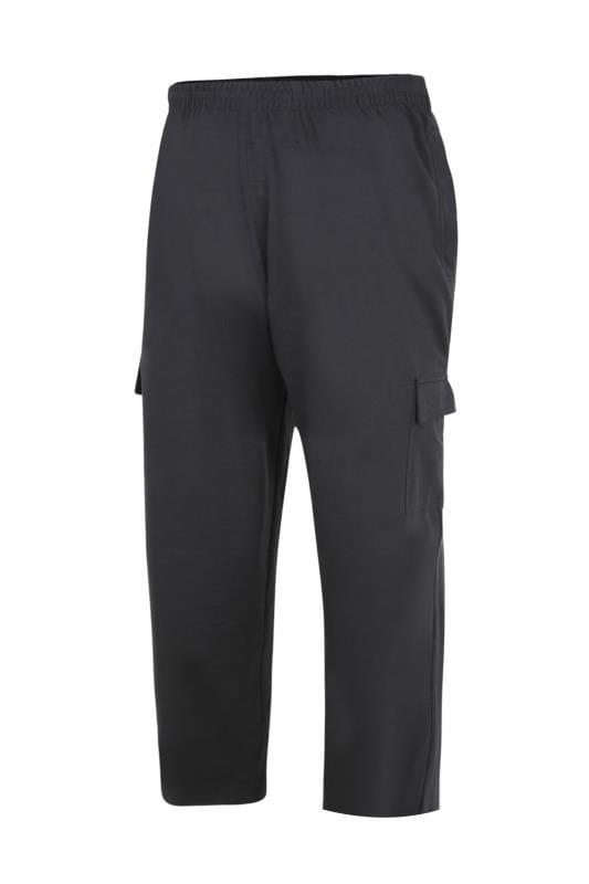 Men's Cargo Trousers KAM Black Cargo Trousers
