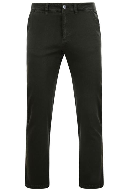Plus Size Chinos & Cords KAM Khaki Chino Trousers