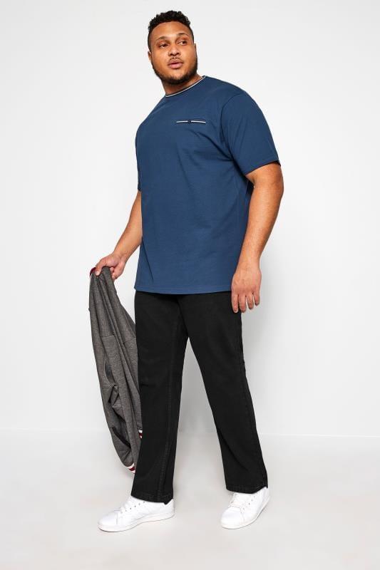 KAM Stretch-Jeans in normaler Passform - Schwarz