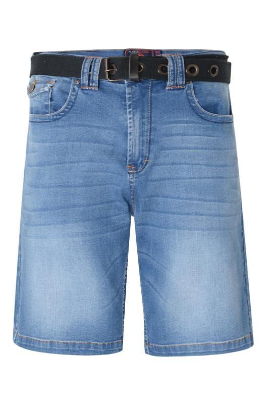Men's Denim Shorts KAM Blue Belted Denim Shorts