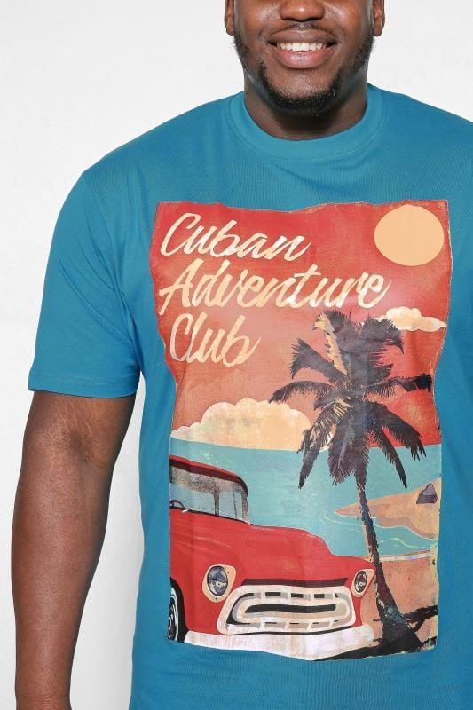 KAM Blue Cuban Print T-Shirt