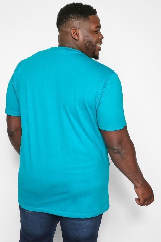 KAM Blue Los Angeles Slogan T-Shirt