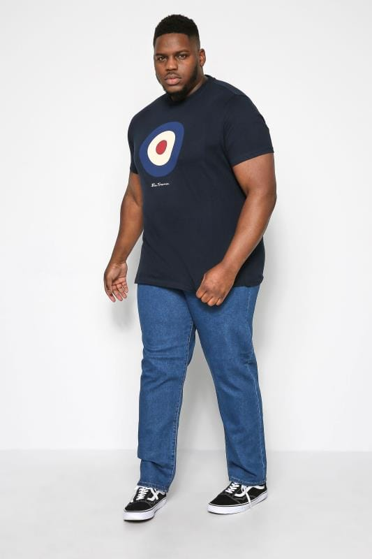KAM Blue Regular Fit Stretch Jeans