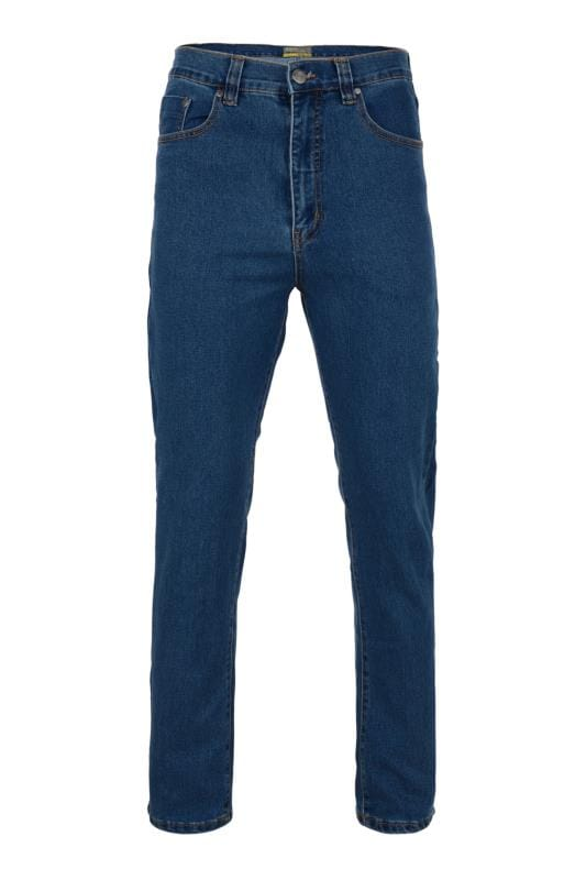 Men's Straight KAM Blue Stone Wash Stretch Jeans