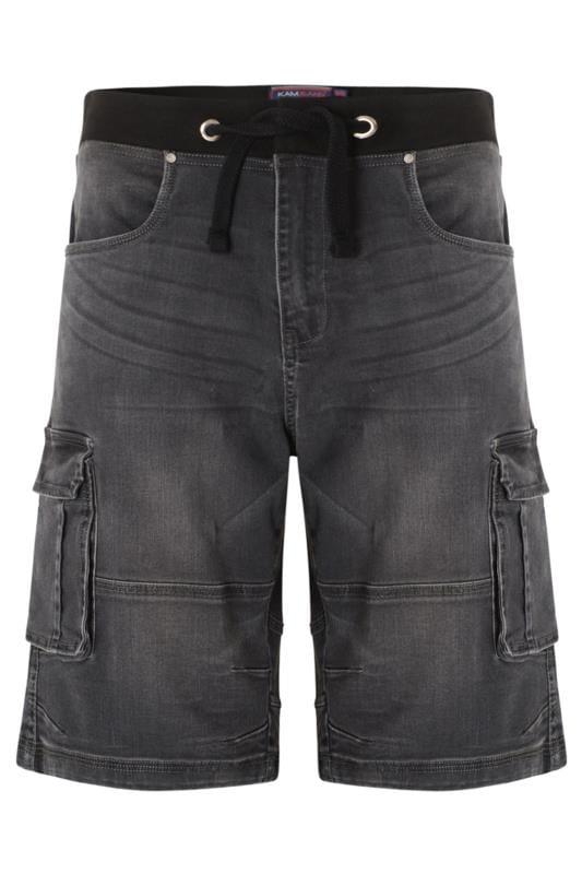 Men's Denim Shorts KAM Charcoal Grey Denim Shorts