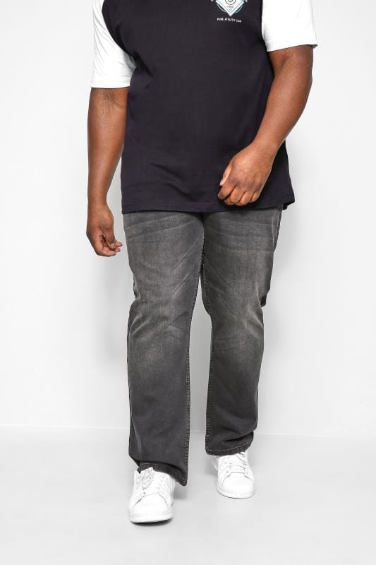 Slim Tapered KAM Charcoal Grey Stretch Jeans 202690